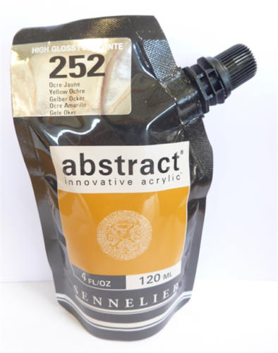 Peinture Acrylique ABSTRACT - 252 Ocre Jaune 120ml