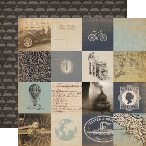 Carta Bella - Old World Travel - 3x3  Cards