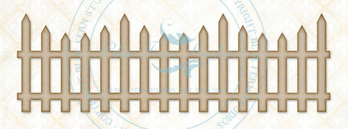 Chipboard Carton - Country Picket Fence - Blue Fern Studios