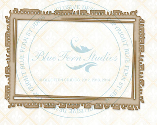 Chipboard Carton - Notebook Frame  - Blue Fern Studios