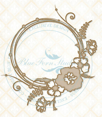 Chipboard Carton - Circle Flourish Small - Blue Fern Studios