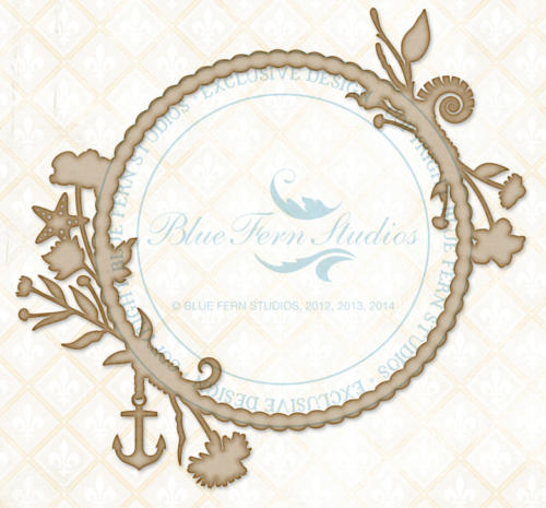 Chipboard Carton - Seaside Frame - Blue Fern Studios